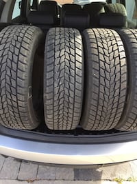 four black vehicle tires with wheels Toronto, M1X 1W3