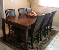 Wood Dinning Table with 6 chairs null, L6A 2Z2