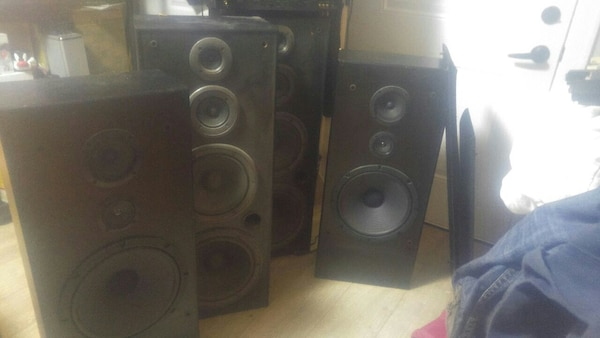 Stereo amps old school eq speakers high power