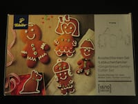 DENMARK 18/10 stainless steel cookie cutter set (GINGERBREAD) BRAMPTON