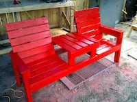 red wooden bench Ocala, 34479