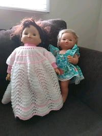 Two dolls one with hands made knit dress  Kamloops, V2B
