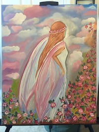"""Beautiful Angel Oil Painting by Tanya Petrova 14"""" x 20"""" Mary Esther, 32569"""