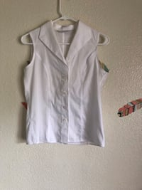 white button-up sleeveless top Oklahoma City, 73145