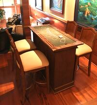 Casino roulette, black jack and craps game table and 4 chairs Rockville, 20850