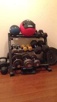 Metal dumbbell rack