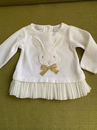 First Impressions Baby Girls Beige Bunny Dress Sz 3-6 months  Las Vegas, 89121