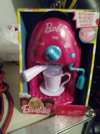 baby's pink and white Barbie coffee maker toy Saint Cloud, 34769