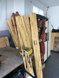 Two 6' x 5' bamboo currents plus's assorted pices 313 mi