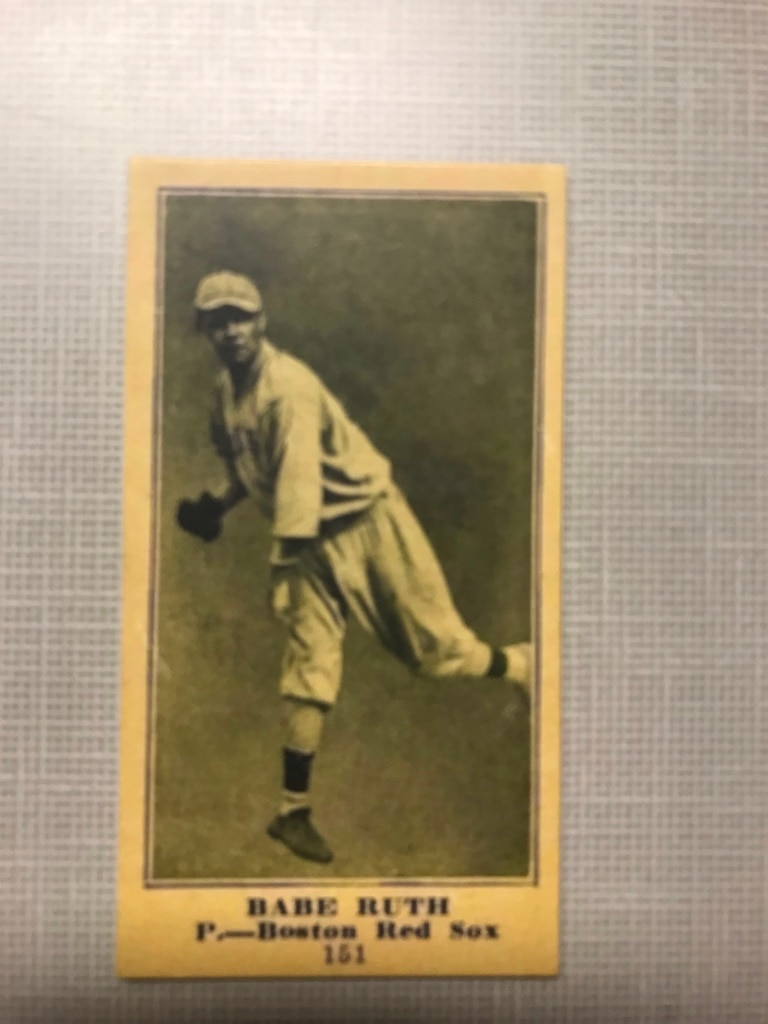 Photo Babe Ruth card.