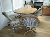 brown wooden table with chairs. Good condition Bedford, 03110