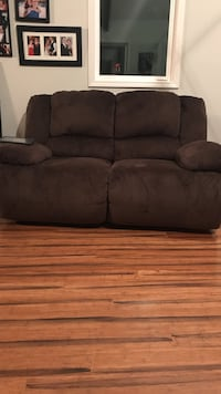Lightly used double recliner sofa