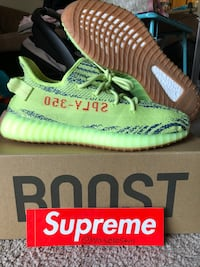 "Size 11 YEEZY BOOST 350 V2 ""Semi Frozen Yellow"" Lake Ridge, 22192"