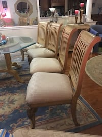 4 thick padded chairs Beltsville, 20705