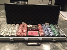 NEW POKER CHIP SET LESS THAN 60%OFF RETAIL!