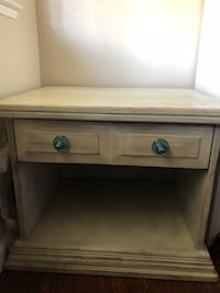 White chalk paint side table $40
