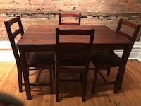 Wood table dining room table  Orangeville, L9W
