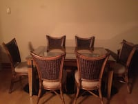Dining room set, six chairs, unfortunately too big for my space Arlington, 22204