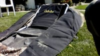 cabelas hunting portable camo blind , sleeping bag , , just in time for duck,goose season , raises to a seated , flat medium raise , back pack style , easy to open up and set up , numerous zippers to make this a one of a kind blind , will sell fast , !! m Winnipeg