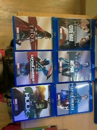 six assorted Blu-ray DVD cases Fort Hood, 76544