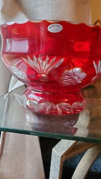 REDUCED!! Vintage Hand Blown Ruby Red Crystal USSR