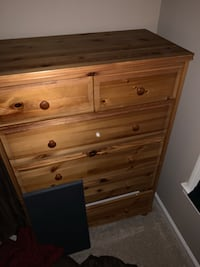 brown wooden 5-drawer chest Fort Belvoir, 22060