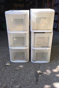 2 - 3 drawer storage containers set Omaha, 68104