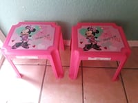 two pink Minnie Mouse plastic tables El Paso, 79928