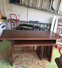 Mission style desk and matching chair