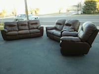 black leather 3-seat sofa and loveseat Sandy, 84070