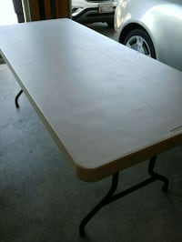 Folding Table 6 foot color gray Olney