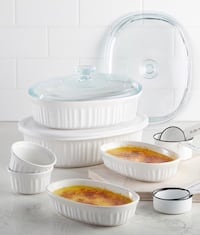 Corning ware French white 10 pcs set. Elkridge