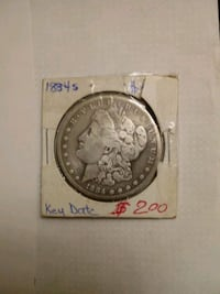 1884 s morgan Silver dollar  Reading