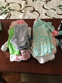 Baby girl clothes from 0-3 looks like new  Charlotte, 28269