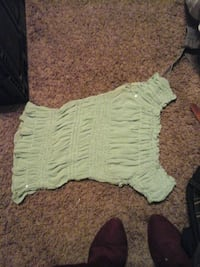 baby's green and white onesie Anderson, 96007