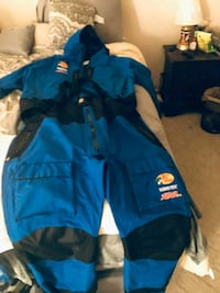 Blue bass pro gore tex suit