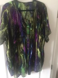 Purple, green, and black button up blouse  North Las Vegas, 89081