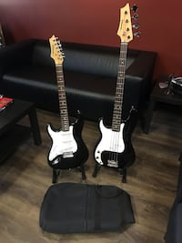 Johnson Left Handed 6 String Electric Guitar & 4 String Electric Bass Guitar with Bag Boca Raton, 33487