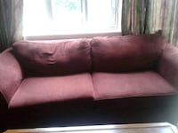 red and white fabric 2-seat sofa Scarborough, M1E
