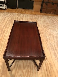 Solid Mahogany Coffee Table with Glass Cover 403 mi