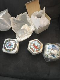 Vintage christmas music boxes West Valley City, 84128