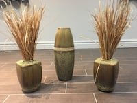 Two brown and black ceramic vases Laval, H7G 3G6