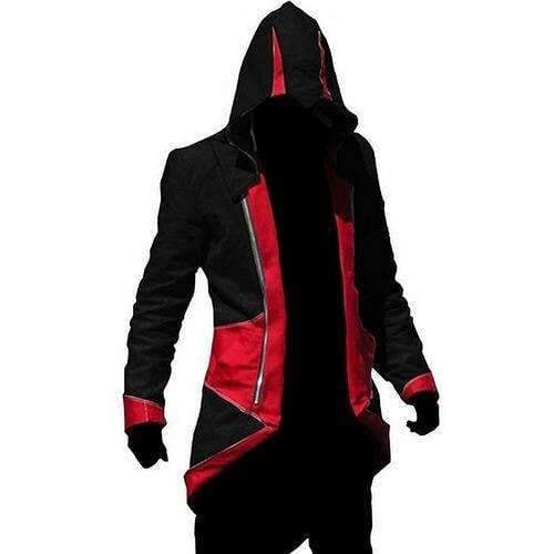 Assassins Creed Black and Red Hoodie Size Adult Medium