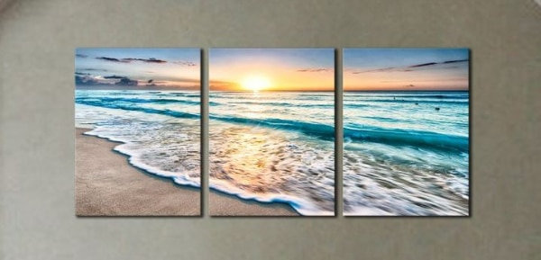 Seascape Beach at Sunset Canvas Wall Art Modern Living Room Bedroom  Home Decor  e81f8af2-2e5a-4959-bed6-19c14f317d55