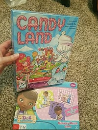 Candy land and Doc Mcstuffins matching game Madison