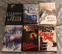6 Hardcover 1st Edition Stephen King Novels Maynard, 01754