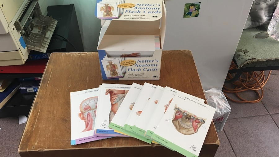 Used Netters Anatomy Flash Cards With Box In San Fernando