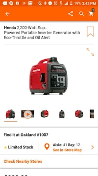 red and black portable generator screenshot Oakland