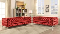 BRAND NEW ADAM TUFTED RED SOFA AND LOVESEAT BY ACME FURNITURE Clifton, 07013
