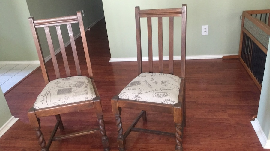 Pair Of Two Barley Twist Chairs